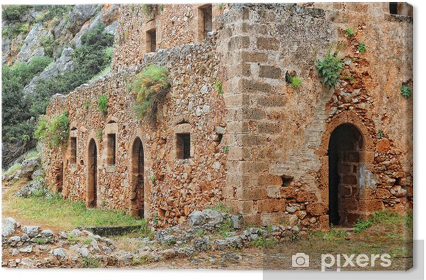 Tableau sur toile Grèce, Crète - Kathalikos monastère - Bâtiments publics