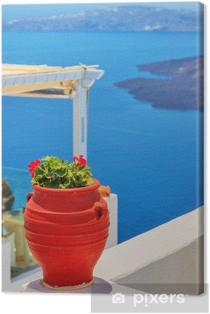 Tableau sur toile Grèce île de Santorin dans les Cyclades, vues de détail traditionnels o - Thèmes
