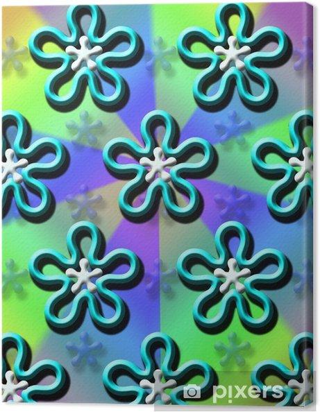 Tableau sur toile Groovy papier peint bleu hélice - Évènements nationaux