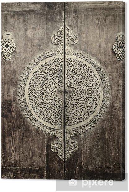 Tableau sur toile Gros plan image de portes anciennes - iStaging
