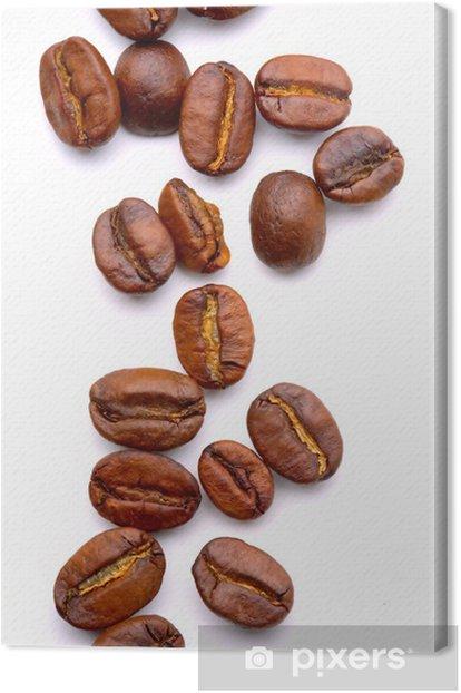 Tableau sur toile Gros plan sur les coffe beans aromatiques - Thèmes
