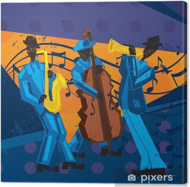 Tableau sur toile Groupe de jazz - Divertissements