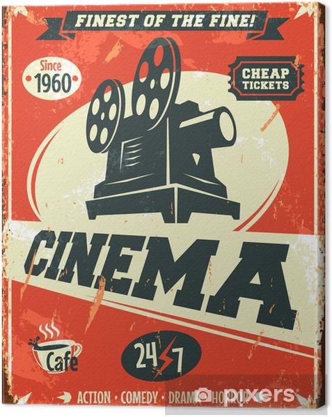 Tableau sur toile Grunge affiche de cinéma rétro. Vector illustration. - Thèmes