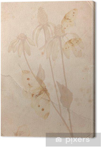 Tableau sur toile Grunge avec une fleur - Styles