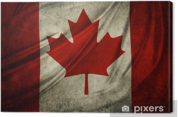 Tableau sur toile Grunge drapeau canadien - Signes et symboles