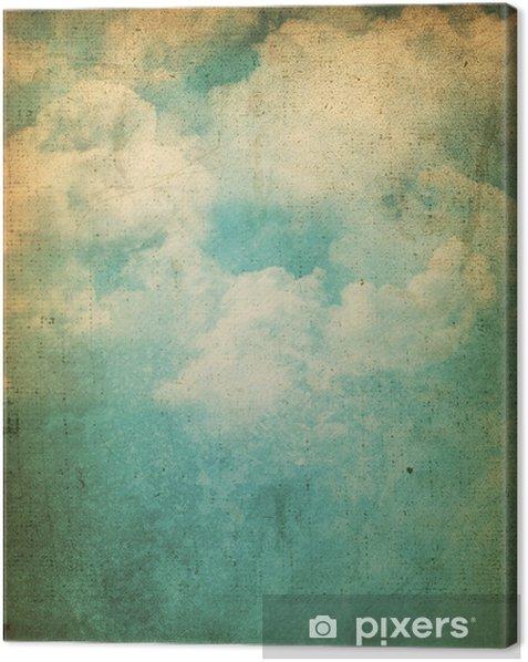 Tableau sur toile Grunge fond de nuages - Thèmes