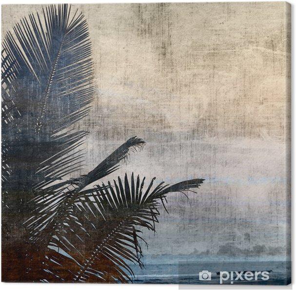 Tableau sur toile Grunge palmier-2 - Styles