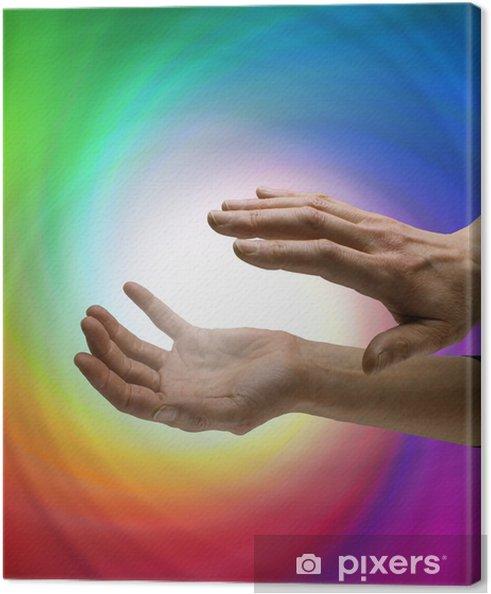 Tableau sur toile Guérisseur travailler avec vortex d'énergie - Santé et médecine
