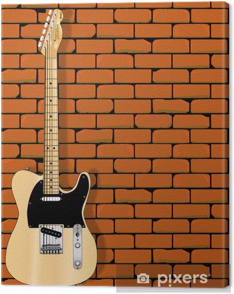 Tableau sur toile Guitar mur - Thèmes