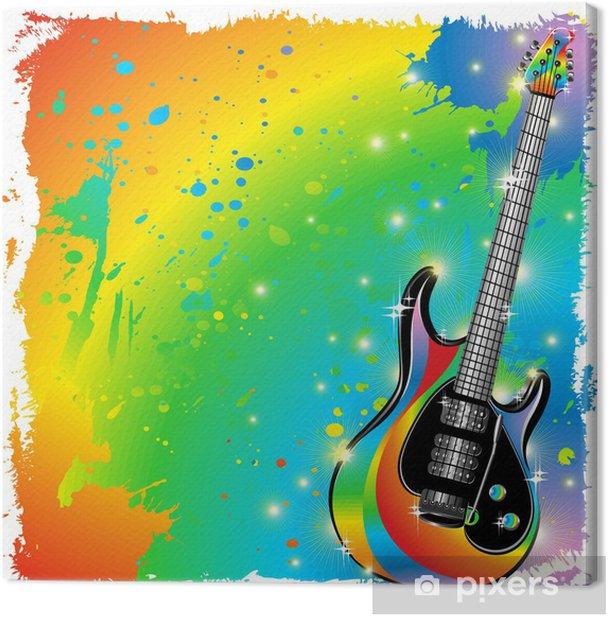 Tableau Sur Toile Guitare Electrique Guitare Peinture Couleurs Et Peinture Affiches Pixers Nous Vivons Pour Changer