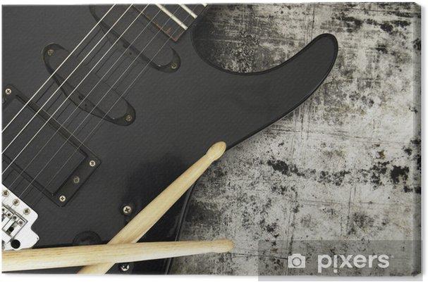 Tableau sur toile Guitare électrique sur un fond de grunge - Thèmes
