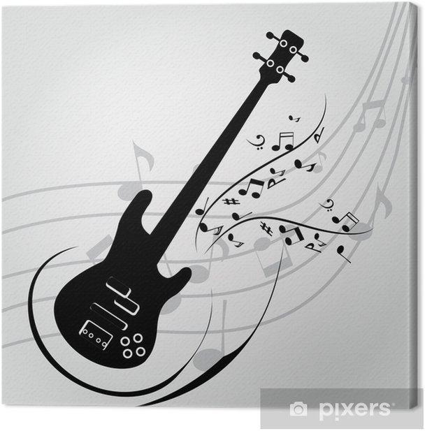 Tableau sur toile Guitare - Thèmes