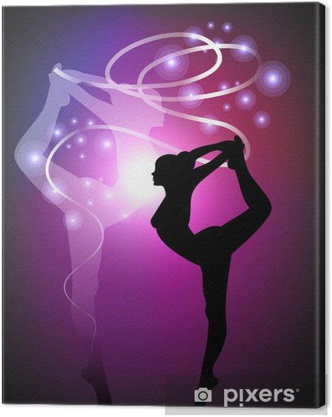 Tableau sur toile Gymnastique rythmique - Ribbon - Destin