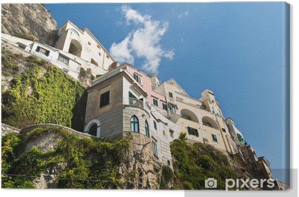 Tableau sur toile Haeuser à Amalfi - Europe
