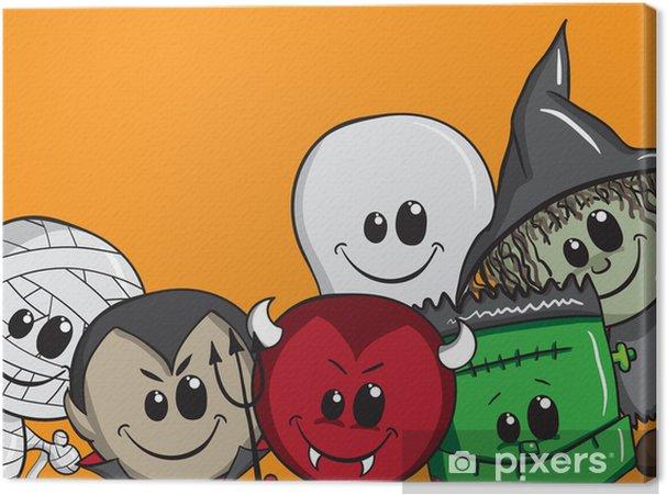 Tableau sur toile Halloween carte de voeux - Fêtes internationales