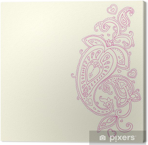Tableau sur toile Hand Drawn ornement Paisley. - Styles
