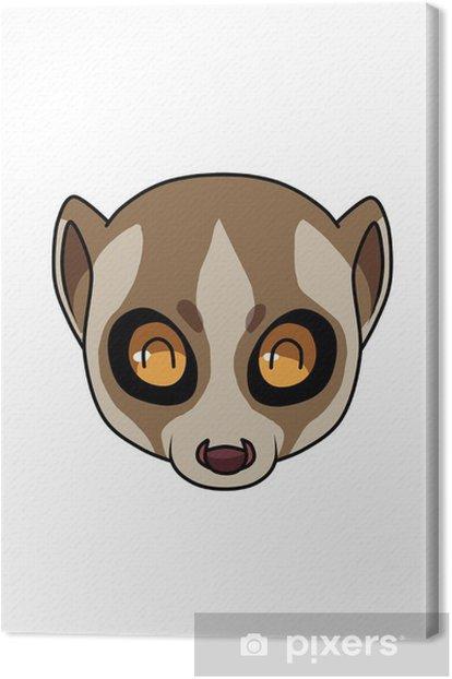Tableau sur toile Happy Face Lemur - Autres objets