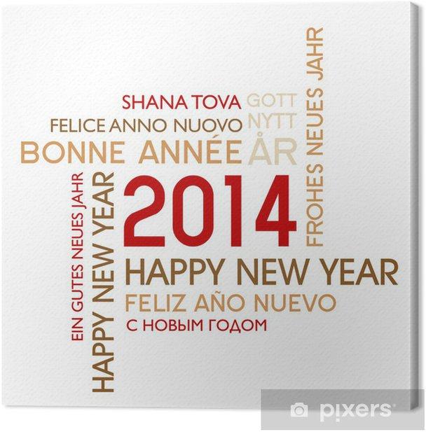 Tableau sur toile Happy new années 2014 - Fêtes internationales