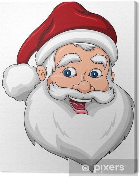 Tableau sur toile Happy Santa Claus face Vue latérale - Fêtes internationales