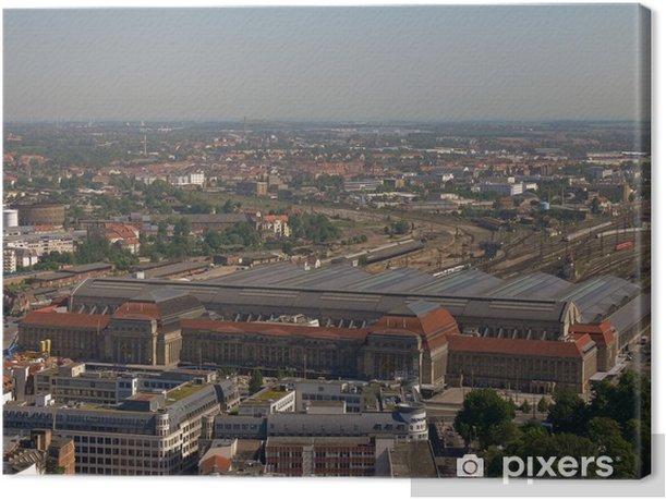 Tableau sur toile Hauptbahnhof Leipzig - Europe