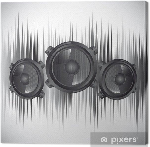 Tableau sur toile Hauts parleurs - Electronique