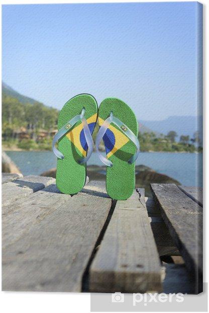Tableau sur toile Havaianas bascule Flipflop brésiliens - Vacances