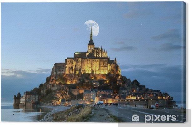 Tableau sur toile HDR du Mont-Saint-Michel - Vacances