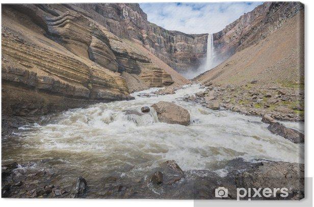 Tableau sur toile Hengifoss cascade, l'Islande - Europe
