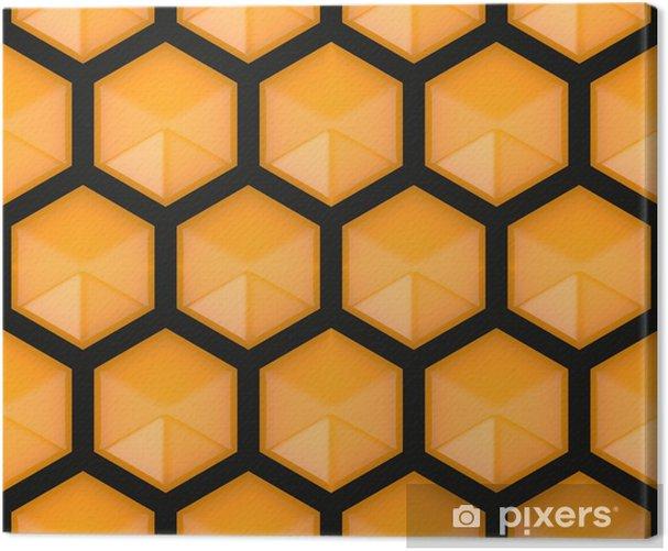 Tableau sur toile Hexagonal seamless - Signes et symboles