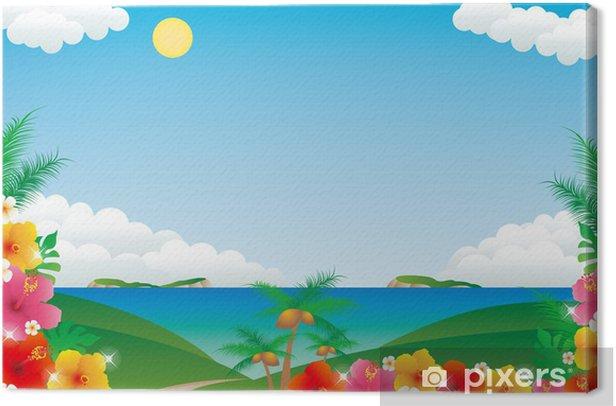 Tableau sur toile Hibiscus - Eau