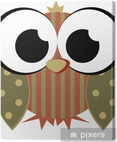 Tableau sur toile Hibou doux - Oiseaux