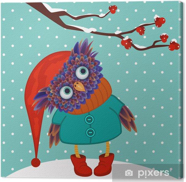 Tableau sur toile Hibou hiver vecteur - Thèmes