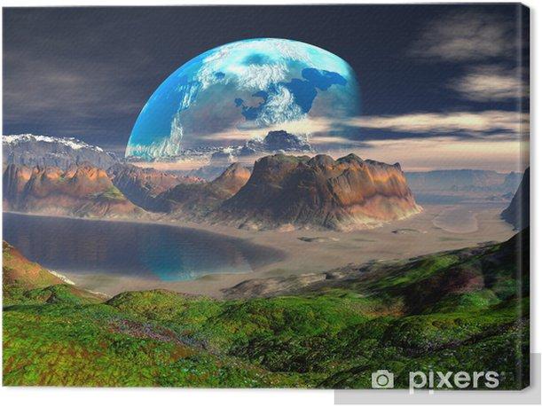 Tableau sur toile Hidden Cove sur Distant Planet - Espace