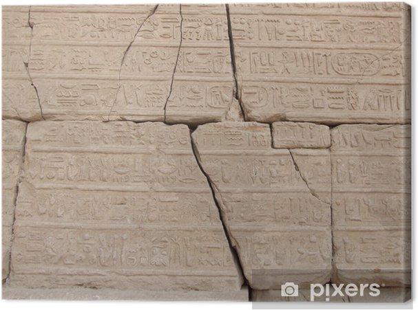 Tableau sur toile Hiéroglyphes dans le temple de Karnak de Louxor - Afrique