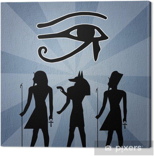 Tableau sur toile Hiéroglyphes silhouette - Afrique