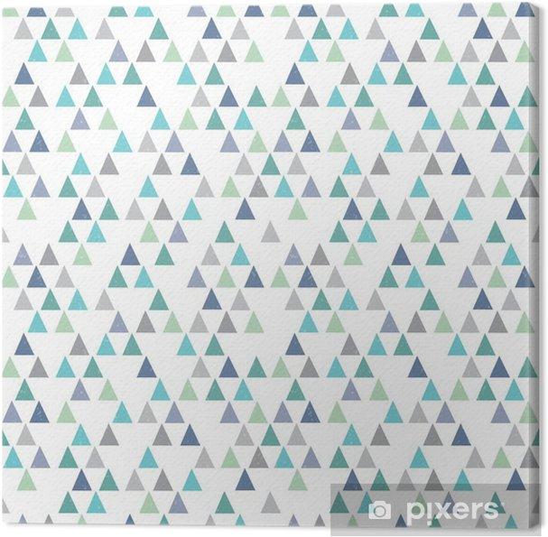 Tableau sur toile Hippie sans soudure motif géométrique triangles bleu aqua - Ressources graphiques