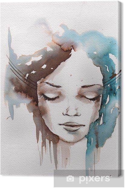 Tableau sur toile Hiver, portrait froid -