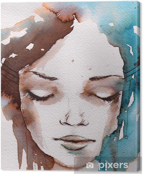 Tableau sur toile Hiver, portrait froid - Styles