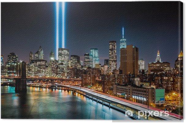 Tableau sur toile Hommage à mémoire Lumière sur 11/09/2014 - Monuments