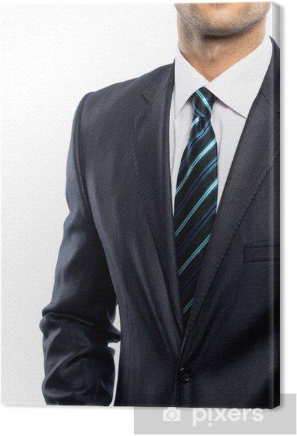 nouveau style et luxe officiel de vente chaude où acheter Tableau sur toile Homme bien habillé en costume noir et cravate