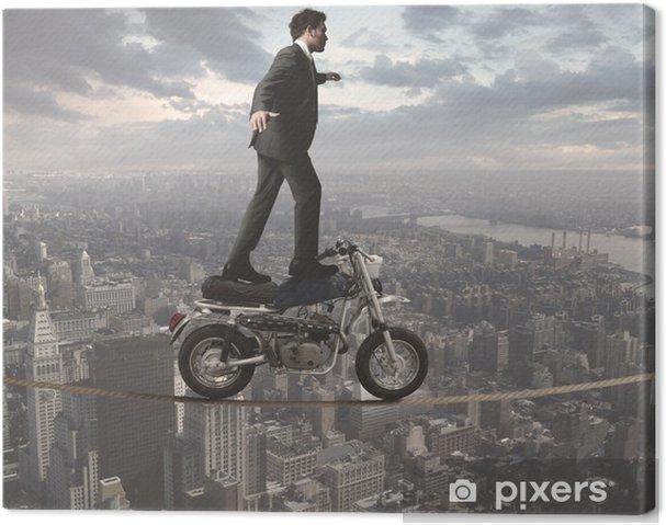 Tableau sur toile Homme d'affaires et les défis acrobatiques - Concepts