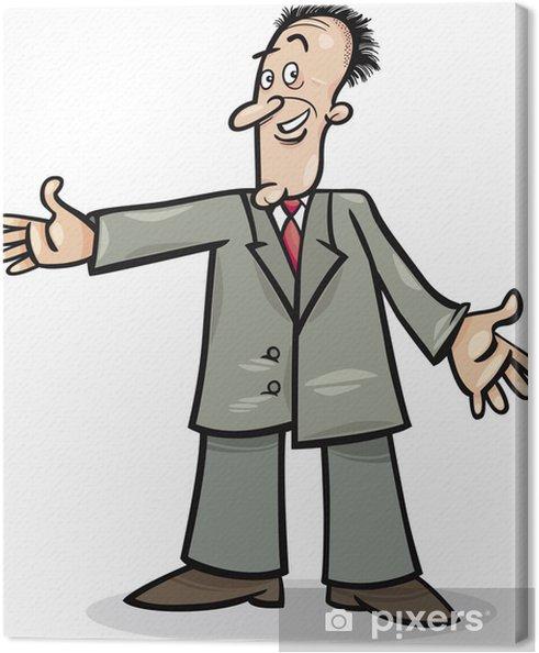 Tableau sur toile Homme en costume de dessin animé - Au travail