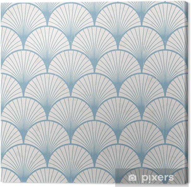 Tableau sur toile Homogène rétro japonais motif texture - Styles