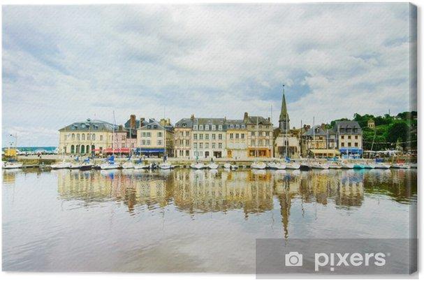 Tableau sur toile Honfleur horizon et le port de la réflexion. Normandie, France - Europe