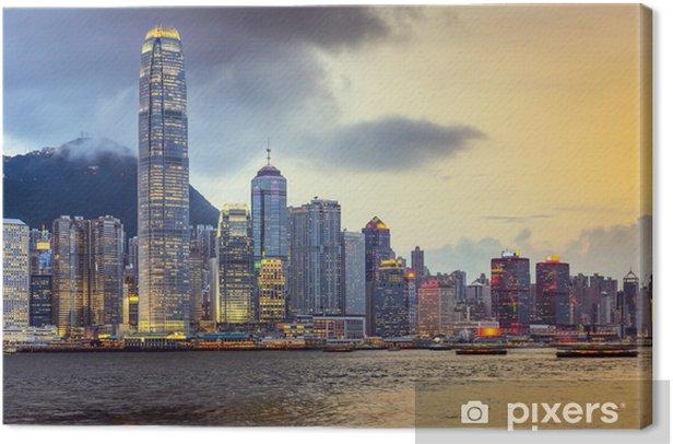 Tableau sur toile Hong Kong, Chine City Skyline - Villes d'Asie