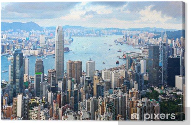 Tableau sur toile Hong Kong skyline - Asie