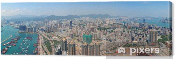 Tableau sur toile Hong Kong vue aérienne - Asie