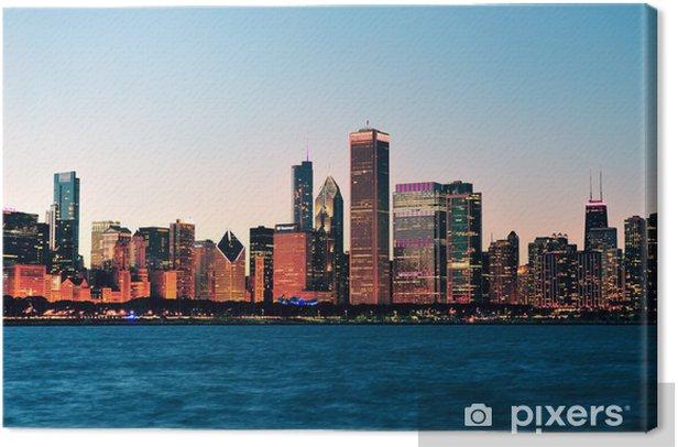 Tableau sur toile Horizon de Chicago au crépuscule - Thèmes