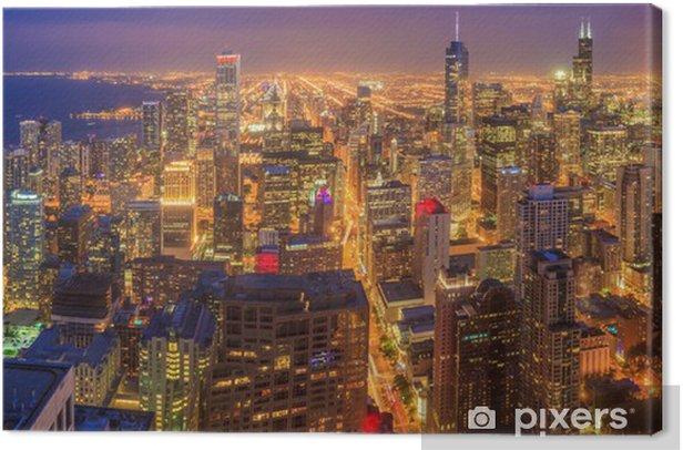 Tableau sur toile Horizon de Chicago - Thèmes