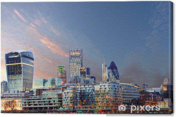 Tableau sur toile Horizon de Londres - Thèmes